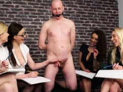 british-cfnm-babes-jerking-their-sub-in-group