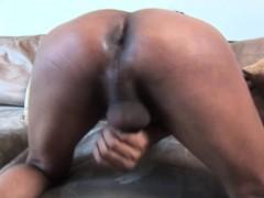 Ebony Tgirl Masturbating And Cocksucking