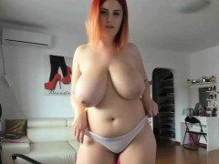 favorite-yummy-huge-natural-tits-redhead-sex-show