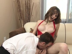 Pretty Tgirl Gets Facial