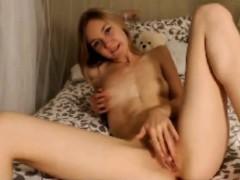 Cute Young Teen Blonde Masturbation Boxing