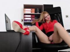 bitch office masturbation