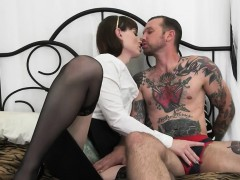 Small Tits Brunette Shemale Natalie Mars Gets Anal Reamed