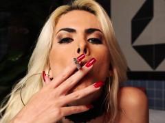 Barbara Perez Enjoying A Cigarette And A Big Cock To Suck