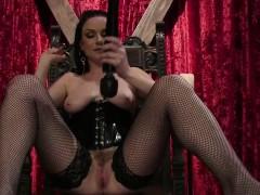 brunette-mistress-tortured-tattoed-slave