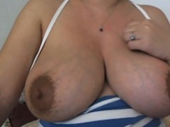 Hot Webcam Girl Playing With Her Big Titties