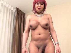redhead-ebony-tranny-masturbating-and-teasing