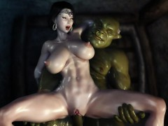 3d hentai two orcs find some cute milf and get her creampied سكس محارم
