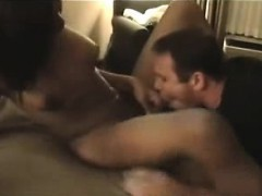 Hot Busty Black Shemale Sucks And Fucks A Chubby White Dude