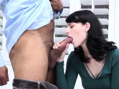 Alex Harper Shows Off Her Skills To Her Stepfather