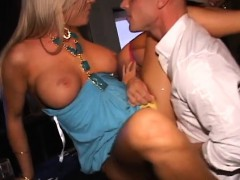 Ridiculous Night Out As Slutty Cuties Share A Thick Dong