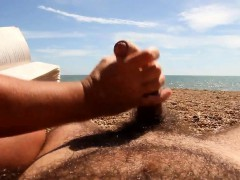 Amateur Beach Handjob