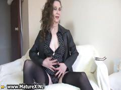 Brunette Mature Mom With Sexy Black Part2