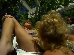 Lesbian Vintage Orgy Outdoor