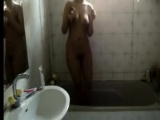 Indian sister filmed in the shower