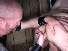 Mature Leather Daddy Jizzed After Bare Fuck