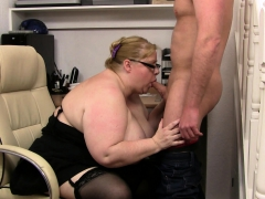 Mega tits Fatty Takes It From Behind