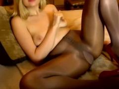 Webcam Slut Playing In Panty Hose