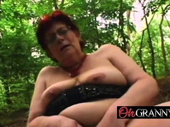 Granny With Big Tits Blowing Dick