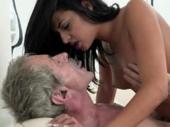 Hot Teen Rides Grandpas Cock Nicely