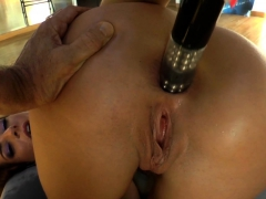 Gaping Ass Babe Toyed