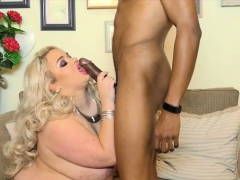 Sexy British Uk Babe Saskia Swallows Big Black Cock