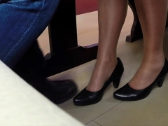 Foot Fetish And Anal Fucking In Public Toilet