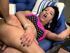 Brazilian Tranny Anal Fucks In Easy Chair