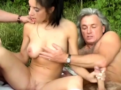 Cute Teen Picked Up For Outdoor Orgy