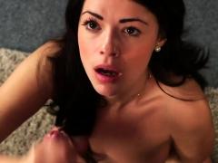 Uk Lingerie Babe Sucking Dick Til Facial Cum
