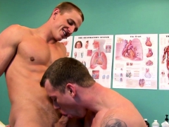 Cut stud assfucked by muscular doctor