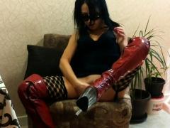 amateur-cumshot-on-my-latex-stockings
