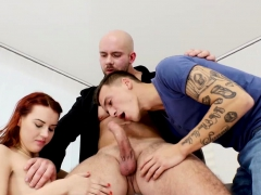 Charli Red Got Her Holes Busy For Two Cocks