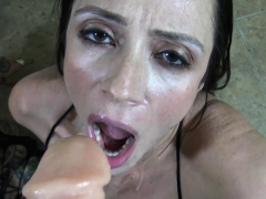 jen and ariella blow a fully loaded fake penis – Free XXX Lesbian Iphone