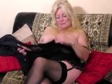 British curvy housewife Cindy goes wild