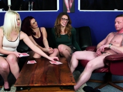 gorgeous-femdoms-teasing-guy-in-foursome