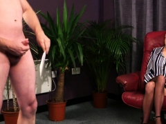 Clothed Babe Watches Guy