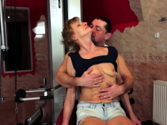 Hairy Amateur Granny Gets Fucked Anally