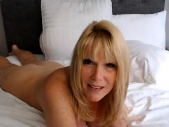 Hot Mature Busty Blonde Cougar Boobs Cummed