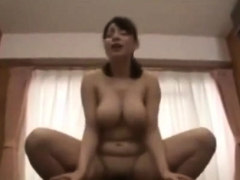 Japanese Showing Her Big Boobs