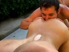 Tattoo gay submission and cumshot