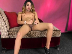 Stroking Trap Pleasing Her Dick