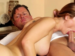 Massaged Bigtits Babe Sucking On Cock