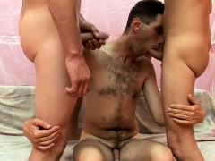 Tall Hairy Dude Moans During Raw Banging