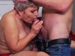 chubby mature lady doing her toyboy granny sex movies