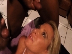 Three Bbc Trash My Wifes Faces With Cum