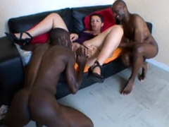 french mature sophia takes 2 black cocks PornBookPro