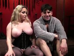 busty-blonde-mistress-spanks-her-slave