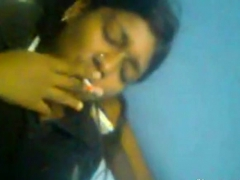 desi slut smoking and giving blowjob