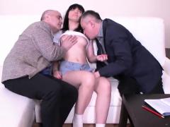 Elegant Schoolgirl Gets Tempted And Poked By Older Te13edz
